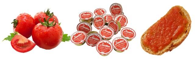 patés individuales tomate natural monodosis