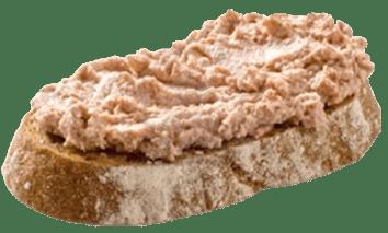 Tostada de paté ibérico Jerecitos para desayunos y meriendas.