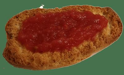 tostada tomate natural Jerecitos