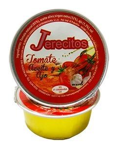 Desayunos sanos. Monodosis tomate natural, aceite y ajo Jerecitos