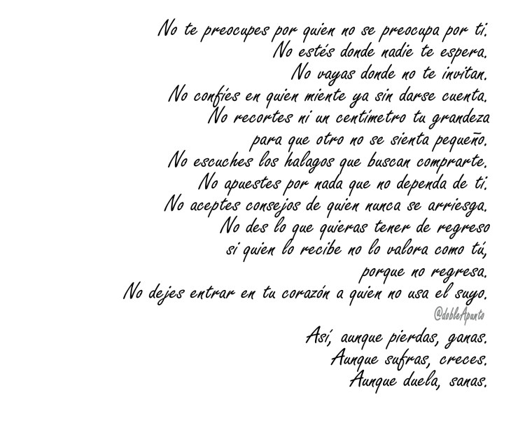 Poema: No te preocupes…