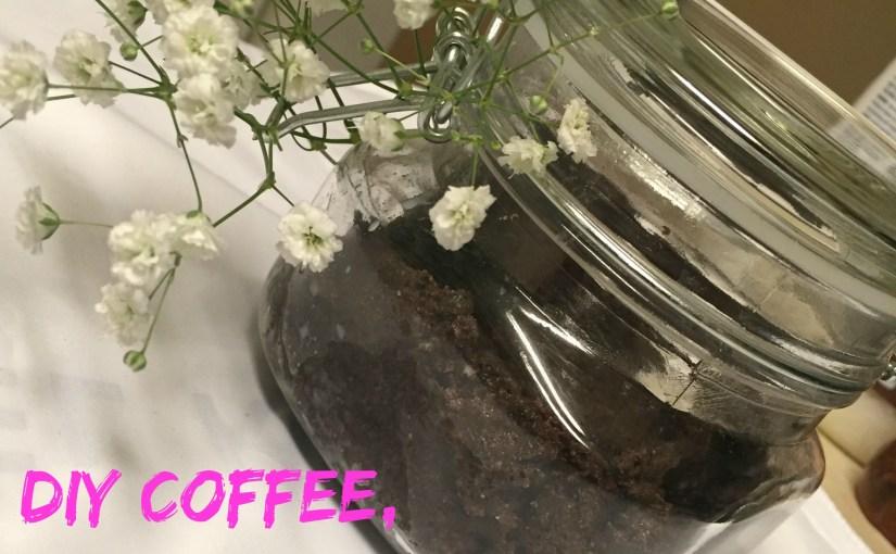DIY Coffee, Coconut Oil and Honey Scrub