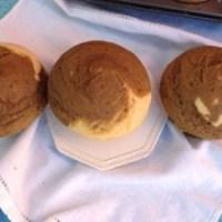 Muffins marmoleados de café