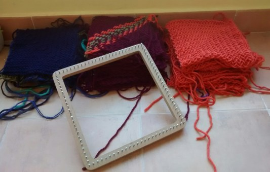 squares and loom