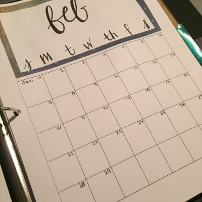 DIY Yearly Calendar