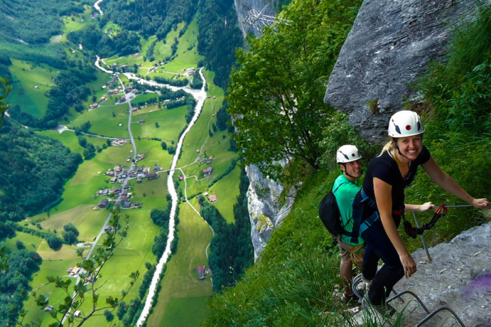 Klettersteig Lauterbrunnen : Murren gimmelwald via ferrata aliciamarietravels