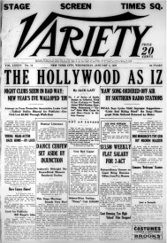 Variety front page 5 Jan 1927 issue