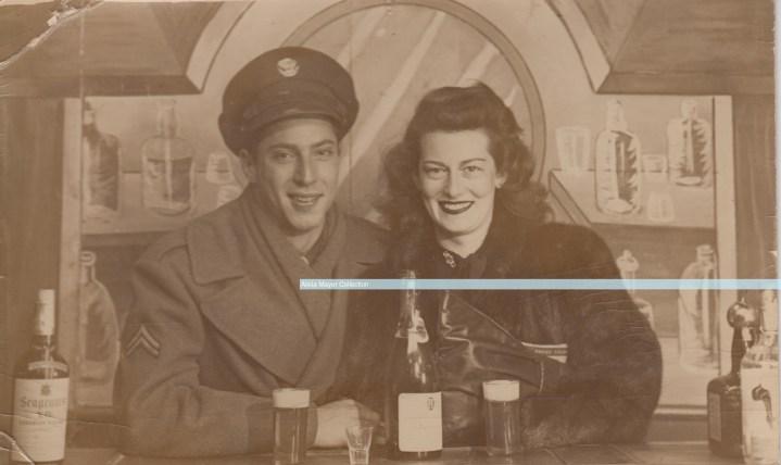 Leonard Sonny Cummings WWII with girlfriend watermark