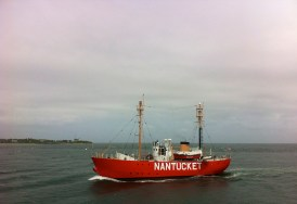 View of the Nantucket Boat From Ferry