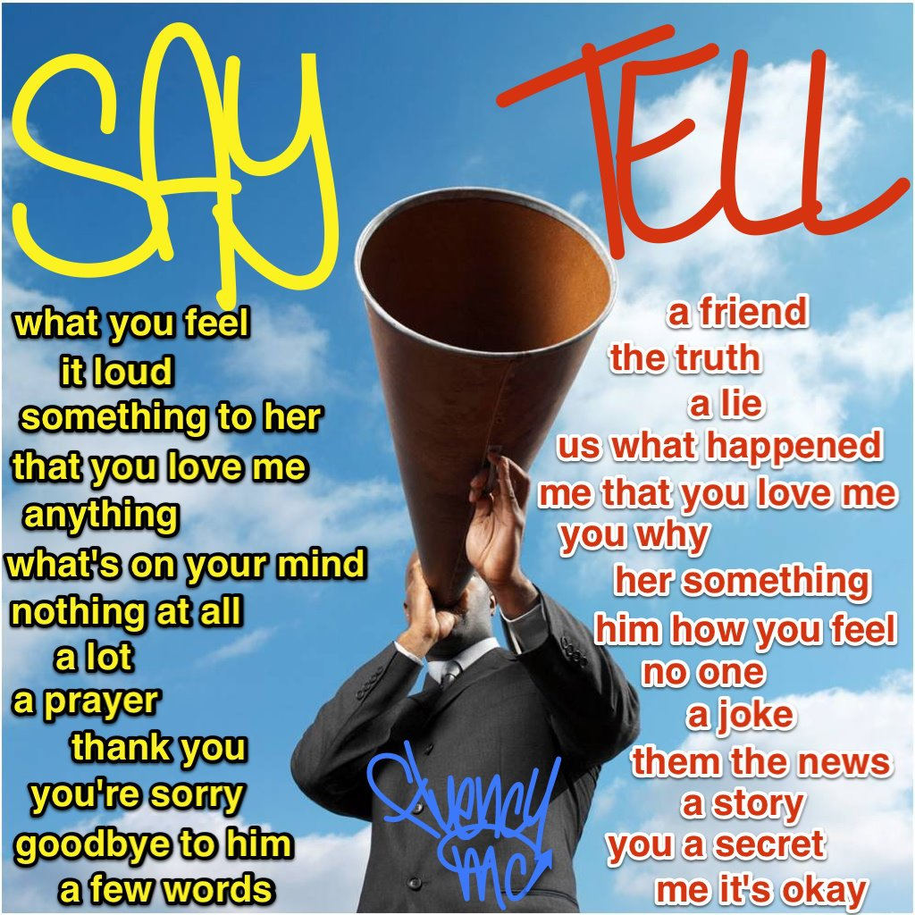 Say Tell Talk Speak
