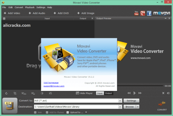 Movavi Video Converter 18.2.0 Premium Crack + Key Free Download