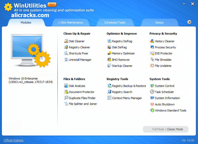 WinUtilities Professional 15.21 Crack & Serial Key Free Download