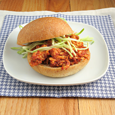 healthy lighter pulled chicken sandwiches