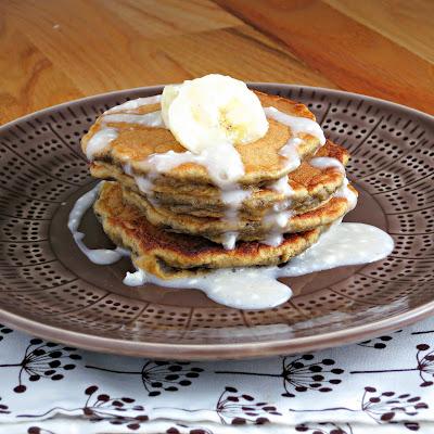 healthy buttermilk banana bread pancakes