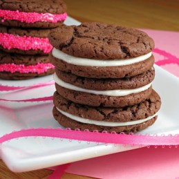 easy chocolate sandwich cookies from Alida's Kitchen