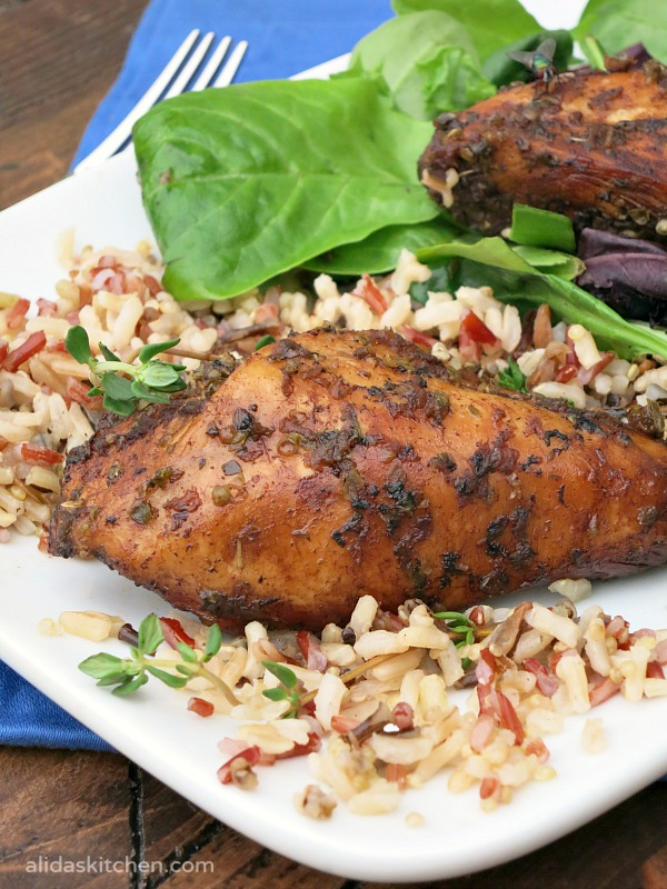 Baked Balsamic Chicken | alidaskitchen.com