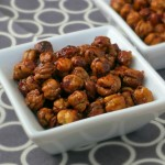 Honey Roasted Chickpeas with Sea Salt {Garbanzo Beans}