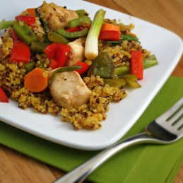 baked sweet and sour chicken with quinoa