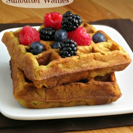sunflower seed butter buttermilk waffles