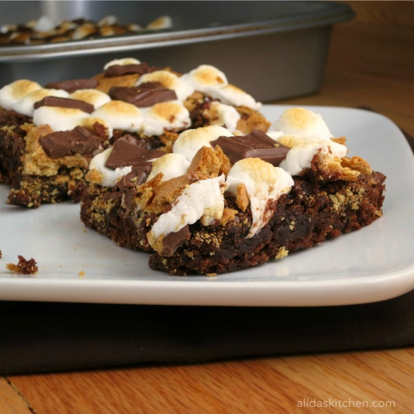 S'mores Brownies   alidaskitchen.com