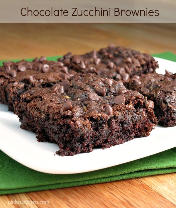Chocolate Zucchini Brownies - Alida's Kitchen