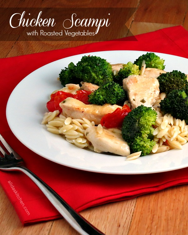 Chicken Scampi With Roasted Vegetables Campbellsauces