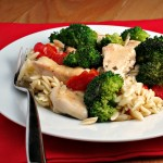 Chicken Scampi with Roasted Vegetables #campbellsauces