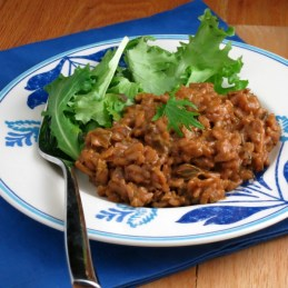 Burgundy Porcini Risotto | alidaskitchen.com #recipes #risotto