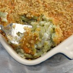Cheesy Green Bean Casserole {No Soup}