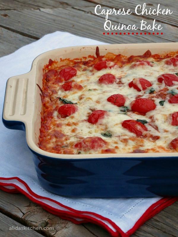 Caprese Chicken Quinoa Bake | alidaskitchen.com