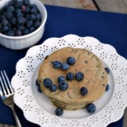 Blueberry Vanilla Pancakes | alidaskitchen.com