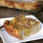 Overnight Baked Peach French Toast