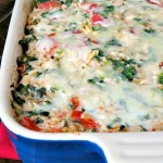 Spinach Artichoke Chicken Rice Casserole
