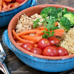 Honey Balsamic Chicken Quinoa Bowl   alidaskitchen.com