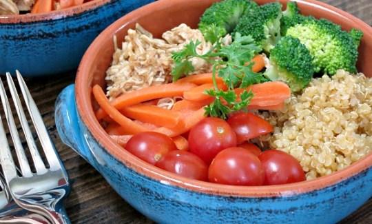 Honey Balsamic Chicken Quinoa Bowl