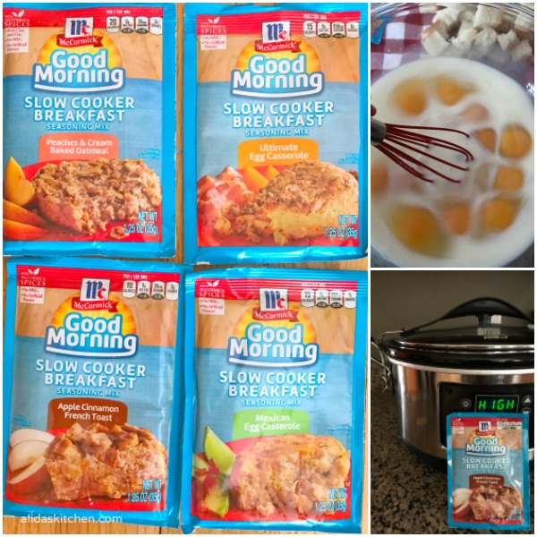 Slow Cooker Apple Cinnamon French Toast | alidaskitchen.com