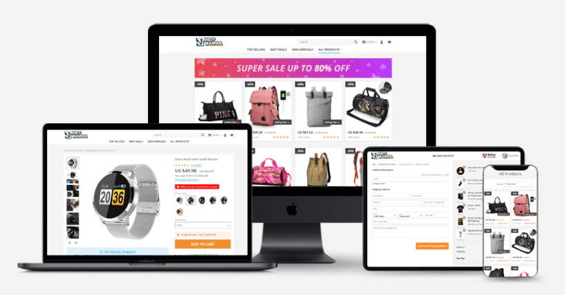 How To Order A Custom Drop Shipping Store- alidropship layout