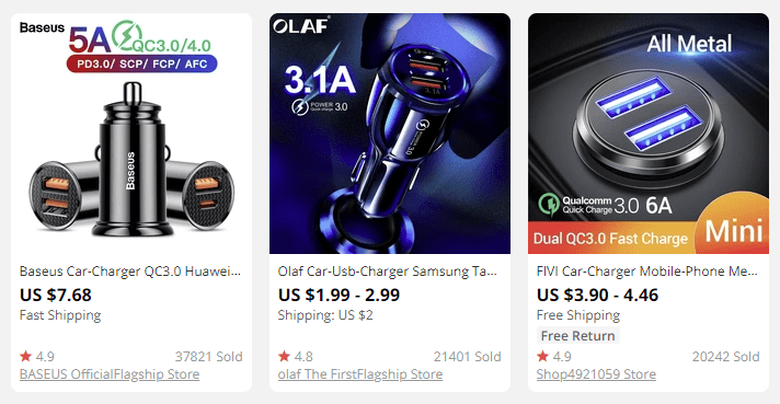 sell car chargers