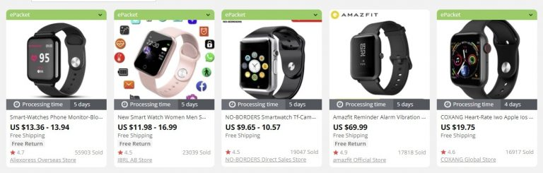 smartwatches to sell in 2020