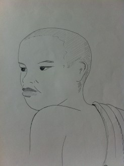 Young Buddhist, Luang Prabang - from my Indo-China Sketchbook.Young Buddhist, Luang Prabang - from my Indo-China Sketchbook.