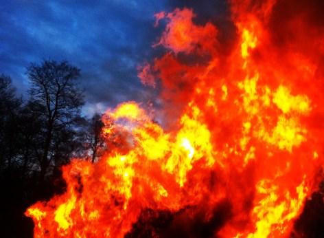 Walpurgis (Valborg) Bonfire in Ekbacken, Åkersberga Sweden.