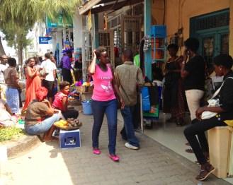 Street life near Nakumatt Kigali City Tower