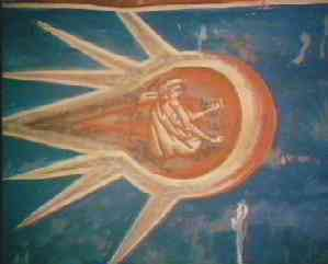 Picture of Christ with two UFOs