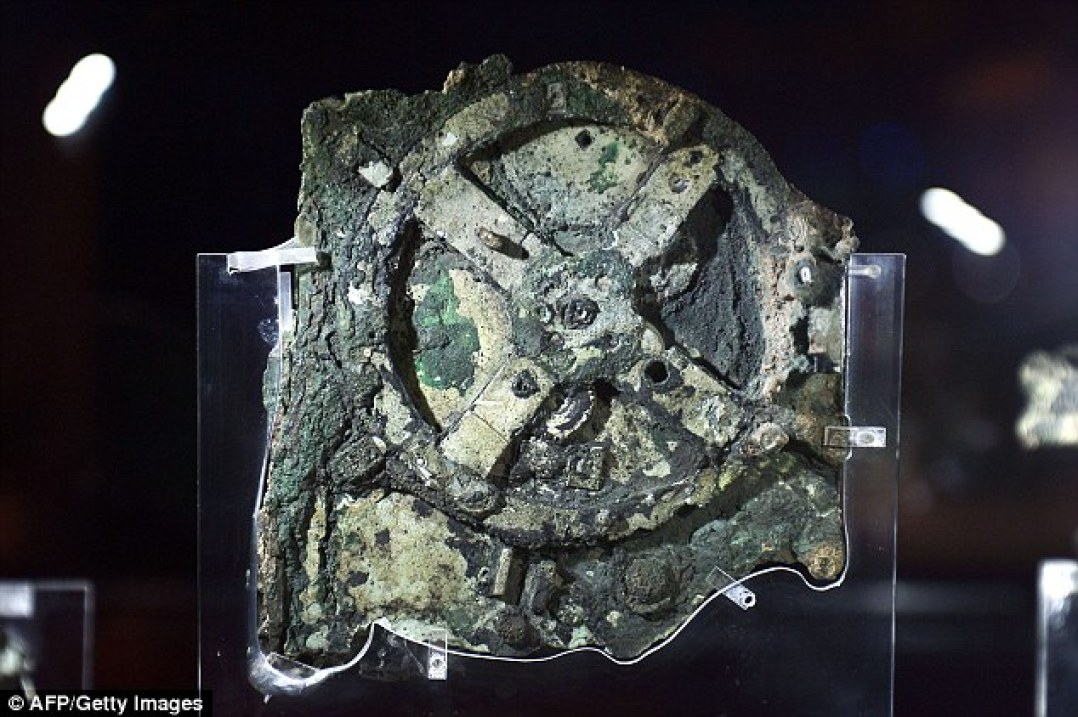 The Mechanism (pictured) was recovered from a Roman cargo shipwreck off the Greek island of Antikythera. Previous studies have shown it was used to chart the movement of planets and the passing of days and years. Scans in 2008 found that it may also have been used to predict eclipses.