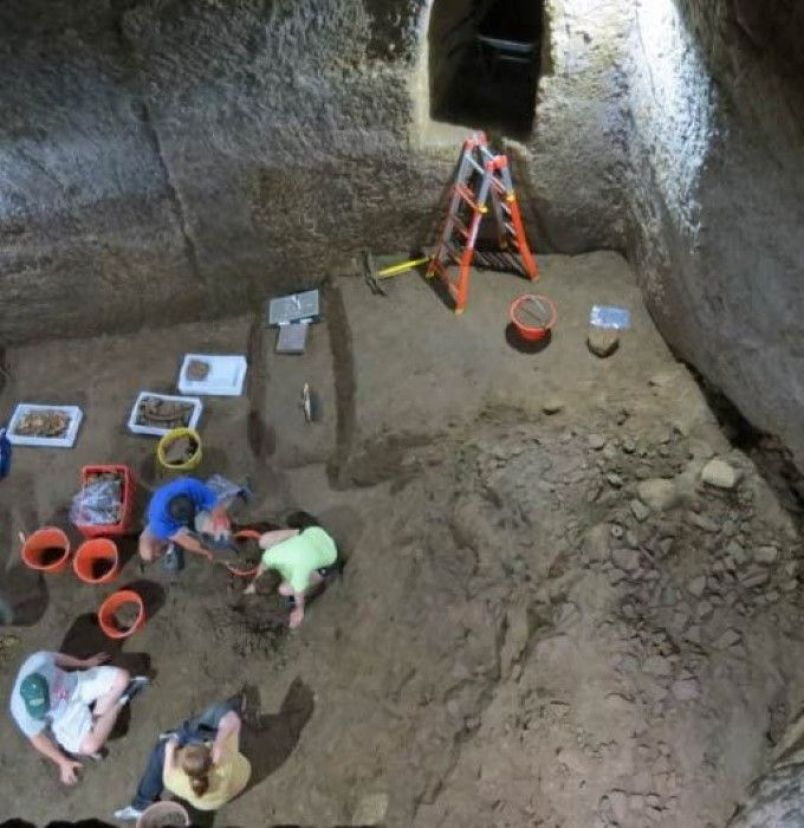 Archaeology team excavates the Etruscan 'Pyramids'. Credit: Daniel George, Jr./Popular Archaeology.