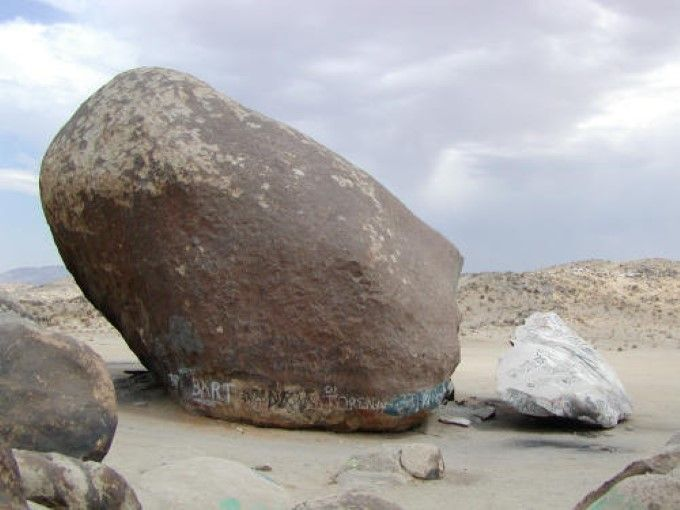 Giant Rock with broken piece on right