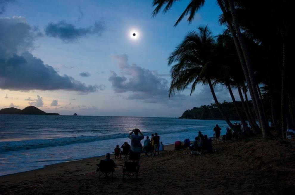 And a truly epic shot of daytime night skies during 2012's total solar eclipse from Ellis Beach, Far North Queensland.