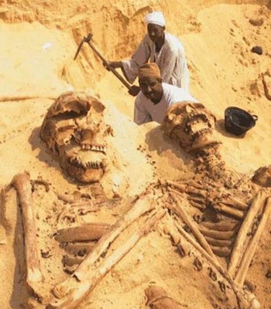 Giant Skeletons found in Egypt