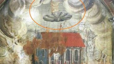 Hovering 'UFO' found in 16th Century painting in monastery