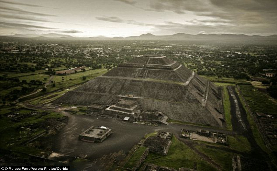 Mysterious: The ruins of Teotihuacan have long been shrouded in mystery because its inhabitants did not leave behind written records